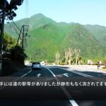 台風12号後の国道168号線