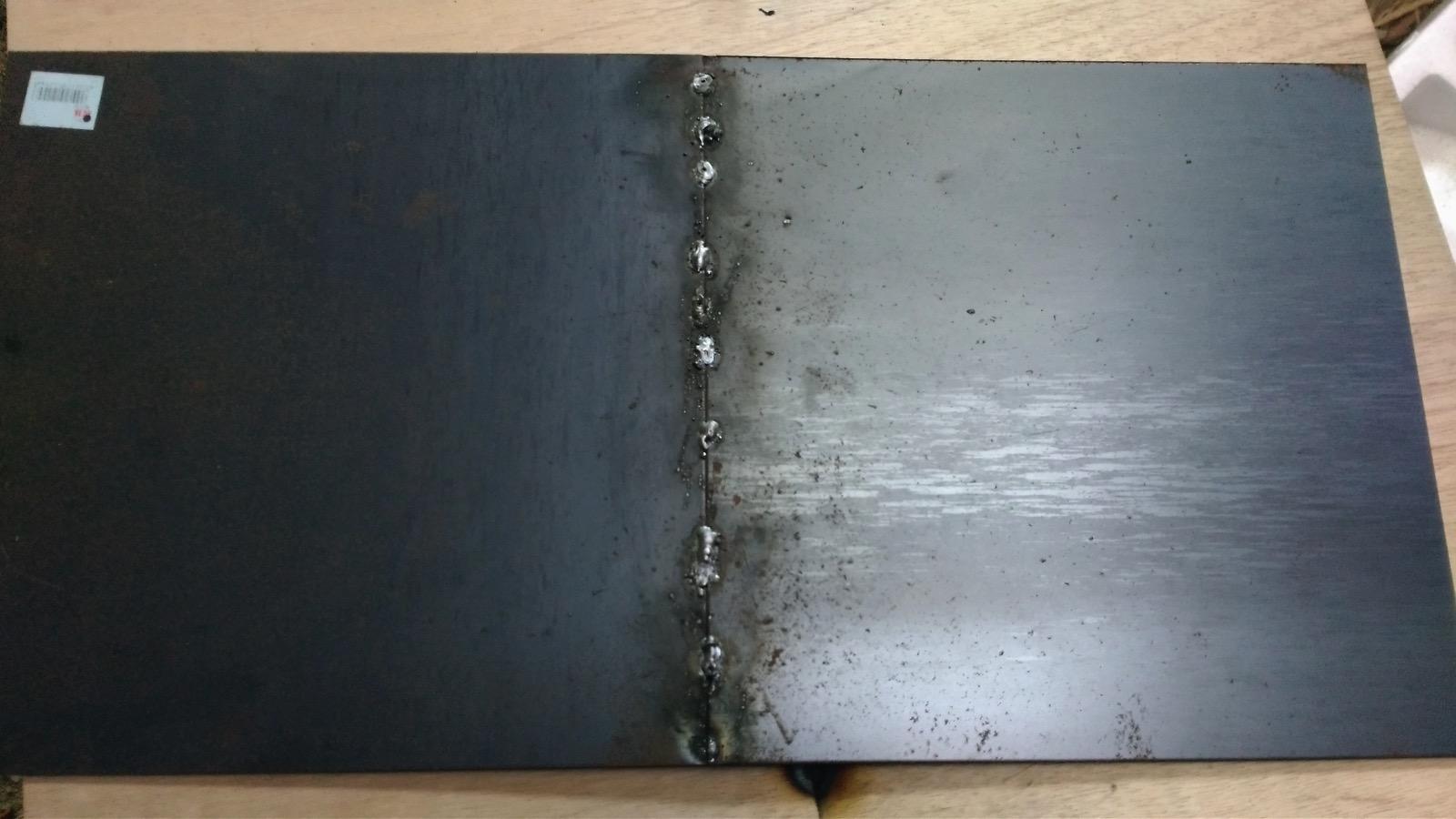 天板の溶接