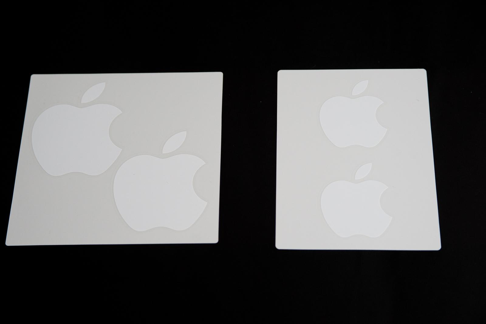 新旧比較、りんごシール
